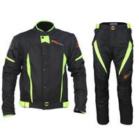 yarış ceketi motosiklet siyahı toptan satış-YENİ GELEN! Binme Kabile Siyah Yarış Kış Ceketler ve Pantolon Yansıtacak, Motosiklet Su Geçirmez Ceketler Pantolon Suits