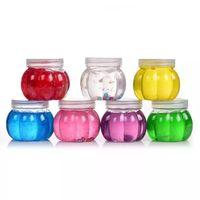plastikkürbis spielzeug großhandel-Kürbisflasche Schleim Perle Kristall DIY Gelee Schlamm Ton Spielteig Klarsichtschlamm Kind Hand Spielzeug Stressabbau Ton Plastikbox Pakete