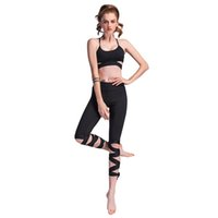 ballettverband großhandel-Frauen Elastische Mittlere Taille Ballerina Yoga Cropped Hosen Sport Leggings Fitness Bandage Kreuz Yoga Ballett Enge