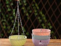 Wholesale pots for sale - Group buy Creative rattan plant flowerpot Multi grain green basket basket flower pot Gardening potted hanging plastic flower pot