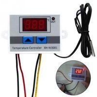 ingrosso controllo della temperatura del termostato digitale-Termostato Regolatore di temperatura digitale per incubatore Regolatore per acquario Controllo interruttori AC 220V DC12V 24V 10A Sensore LED rosso