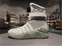zukünftige mags großhandel-Authentische Air Mag Mens zurück in die Zukunft Beleuchtung Mags Mens Basketball Schuhe mit LED-Leuchten High Top Sneakers schwarz grau mit Box