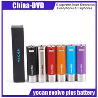 Wholesale vape replacement battery - Original Yocan Evolve Plus Battery 1100mah Evolve Plus Kit Replacement Vape Pen Black SS Red Blue Purple Orange DHL Free