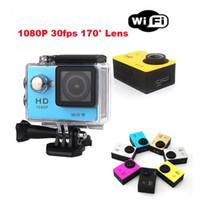 caméra vidéo résistant à l'eau hd achat en gros de-10pcs SJ4000 1080p Full HD Action caméra numérique sport écran 2 pouces écran sous étanche 30M DV enregistrement Mini Sking vélo Photo Caméra vidéo
