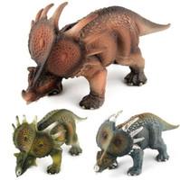 ingrosso schermi di giocattoli in plastica-50% Jurassic Park modello dinosauro giocattolo drago drago spina spina di plastica solida decorazione Bambini Giocattoli per bambini