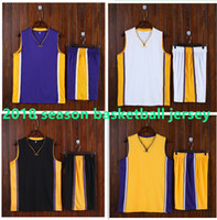 Wholesale youth cheap sports jerseys - Los Angeles Basketball Jersey sets Cheap Youth Basketball Uniforms 2018 Basketball Trainning Sport Kits can custom LOGO and name and number