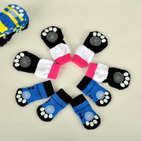 Wholesale woven bottom shoes for sale - Group buy Lovely Pet Socks For Dog Cat Cute Soft Cotton Anti Slip Knit Weave Sock Skid Bottom Puppy Shoes Clothes Warm yc Y
