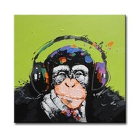 abstrakte ölgemälde tiere großhandel-Dekoriert abstrakte Bild Kunstfarben auf Leinwand handgemaltes tierisches Ölgemälde für Sofa-Wanddekoration kein Rahmen