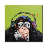 malerei wände kunst großhandel-Verzierte abstrakte Bild-Kunst-Farben auf Segeltuch-handgemaltem Tierölgemälde für Sofa Wall Decoration No Frame