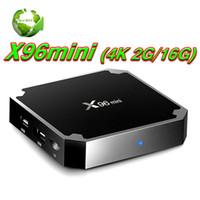 receptor de satélite wifi youtube al por mayor-X96 mini Android 7.1.2 CAJA DE TV Amlogic S905W 64 bit Quad Core WIFI 4K receptor de televisión satelital IPTV Smart TV Set-top