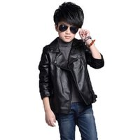 Wholesale oxford style jackets for sale - Group buy causal boy jacket solid gentleman style faux leather jacket for years boys kids children leather outerwear clothes