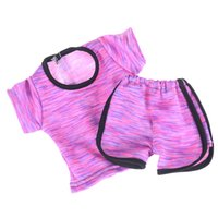 Wholesale sportswear accessories online - 18 inch American Girl Dolls Accessories Sportswear T shirt Pants two piece Suit Our Generation Journey Doll Clothes Toys