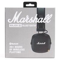 professionelle bluetooth mp3 großhandel-MARSHALL MAJOR III BLUETOOTH-Kopfhörer mit Mikrofon Hi-Fi-DJ-Kopfhörer mit Mikrofon für tiefe Bässe Professioneller MARSHALL MAJOR 3.0-Kopfhörer Bluetooth-Kopfhörer