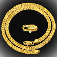 20inch Snake chains necklaces 18k gold   925 Silver plated necklace Bracelet 5MM fashion for men womens jewelry High quality