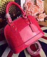 Wholesale flowers black for sale - Group buy Newset ALMA BB PM Shell Bag Women Genuine Leather Handbags Flower Embossed Shoulder Bags With Lock handbags Crossbody bag
