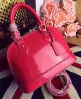 Wholesale Handbags Bb - Top Quality ALMA BB PM Shell Bag Women Genuine Leather Handbags Flower Embossed Shoulder Bags With Lock Designer handbags Crossbody bag