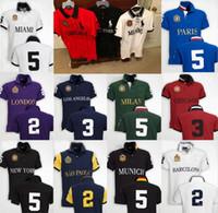 Wholesale dropship discount - discounted PoloShirt men Short Sleeve T shirt Brand London New York Chicago polo shirt men Dropship Cheap High Quality Free Shipping