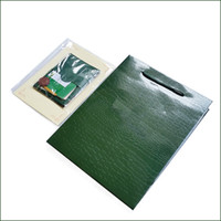 Wholesale certificate card - Only Original Box Papers   Card   Certificate! Luxury Watches Packaging Box Brand Green Watch Papers for Rolex Watch box Gift Bag