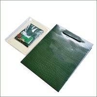 ingrosso imballaggio originale delle scatole da guardia-Solo documenti / carte / certificati originali! Orologi di lusso Confezione Confezione Confezione di cartoncini verdi per porta orologi Rolex