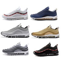 Wholesale Gold Mesh Dress - Ultra Classical mens air 97 shoes white black running dress shoes athletic trainers walking sneakers men casual shoes