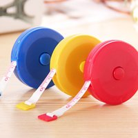 Wholesale cute tapes - 1.5m Cute Plastic Mini Tape Measure Automatic Retractable Small Soft Feet Clothing Size Footwear Ruler 3544
