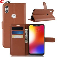 Wholesale cell phone wallet money case resale online - Luxury Litchi Flip Wallet Leather Case For Motorola MOTO One P30 Play Xiaomi LITE Stand ID Card Money Leechee Cell Phone Skin Cover