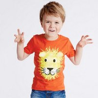 Wholesale fashion little boy - BST15 NEW ARRIVAL Little Maven Girls Kids Cotton Short Sleeve lion Print T shirt girls causal summer t shirt Free Ship