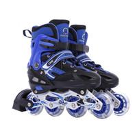rodas de patins de roda flash venda por atacado-1 Par Adulto Crianças Inline Skate Patinação No Gelo Sapatos Ajustáveis Lavável rodas de Flash 3 Cores
