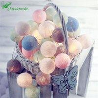 enfeites de natal bolas coloridas venda por atacado-Eco-friendly 3m 20 Led bola de algodão colorido LED Luzes Cordas Decoração de Natal Para Início Ornamento do Xmas Enfeites De Natal .L