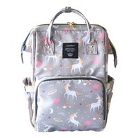 Wholesale Backpack Diaper - 4 Colors Unicorn Mommy Backpacks Nappies Bags Unicorn Diaper Bags Backpack Maternity Large Capacity Outdoor Travel Bags CCA9269 5pcs