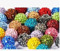 Wholesale pink disco ball bracelets resale online - 3000pcs mm Mixed Color Micro Pave CZ Disco Ball Crystal Shamballa Bead Bracelet Necklace Beads