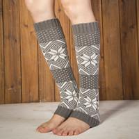 Discount christmas boot cuffs - Newly Design Christmas Socks Warm Winter Socks Women Knitted Winter Boots Leg Warmers Cuffs Fashion Knee High Polainas