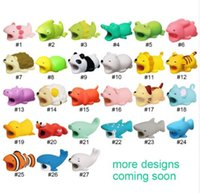 Wholesale Cable bite Cute Animal cable protector for iphone usb cable organizer chompers charger wire holder for iphone Lightning dropshipping