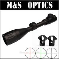 av sahaları optikleri toptan satış-3-9X50 AOIR Kırmızı Açgözlü Işıklı Airsoft AirRifles Optik Guns Sight Tüfek Kapsamları Avcılık Için Tüfek 11mm / 20mm Halka Dağı