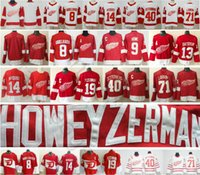 Wholesale steve red for sale - Detroit Red Wings Hockey Justin Abdelkader Pavel Datsyuk Henrik Larkin Gordie Howe Gustav Nyquist Steve Yzerman Jersey