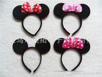 Wholesale Headbands Plastic Color - Children ears headband girl boy Hair Sticks kids birthday party supplies decorations A038