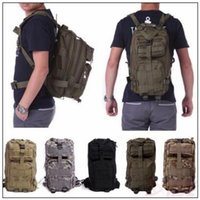 Wholesale Wholesale Military Backpacks - 12 Colors 30L Hiking Camping Bag Military Tactical Trekking Rucksack Backpack Camouflage Molle Rucksacks Attack Backpacks CCA9054 60pcs