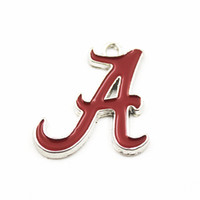 dangling colares venda por atacado-20 pçs / lote NCAA Alabama Equipe de Esportes Logotipo Flutuante Oscilar Encantos Pingente Para Colar Pulseira Cadeia Brinco Jóias Diy