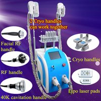 Wholesale cryo laser - 5 IN 1 cryolipolysis machines fat freezing lipo laser cavitation RF body slimming cryo lipolysis weight loss machines for home or spa use