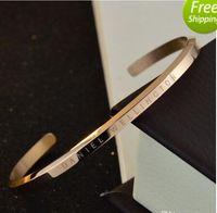 Wholesale Chain Certificates - new DW Bracelets Cuff Rose Gold Silver Bangle 100% stainless steel Bracelet Women and Men Bracelet pulsera NO Original package + certificate