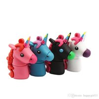 animal memory sticks NZ - multi colour USB Flash Drives 1ps 16GB Cute Rainbow Horse USB Memory Stick Animal Pendrives For Children Toy Gift u11
