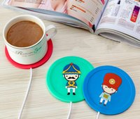 Wholesale Mug Heating Pad - DHL Silicone Coasters Cups Thermos pad USB Coffee Mug Heating cup mats USB Warmer Heater for Milk Tea Coffee Mug