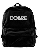 Wholesale DOBRE Lucas Brothers Canvas Shoulder Backpack Latest Backpack For Men Women Teens College Travel Daypack Black