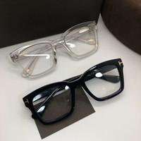 óculos de quadro quadrado transparente venda por atacado-NOVA alta qualidade TF681-F Praça-prancha big-frame 50-20-145 óculos de prescrição unisex com lente clara e full-set caso OEM
