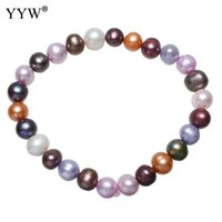 """34/"""" 8-10mm Navy Freshwater Pearl Necklace Strand Fashion Jewelry"""