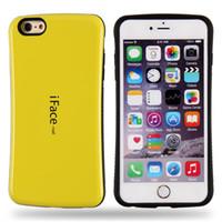 couverture d'iface pour iphone achat en gros de-Pour iPhone X 8 7 6 Luxe iface Hybride PC + TPU Coque Arrière Coque Rigide Pour Samsung S9 S8 Plus S7