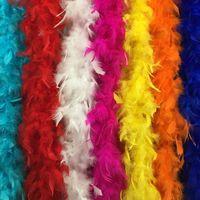 bufanda de plumas al por mayor-180 cm nuevo Glam Flapper Dance Disfraces Accesorio de disfraces Pluma Boa Bufanda Envoltura Burlesque Can Saloon ems a EE. UU. # Z903C