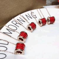 Wholesale Red Thread Necklace - New The charity version of the red thread ceramic couple necklace titanium steel marble necklace with small red people anti - counterfeits