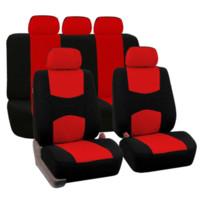 fundas de asiento de coche universal rojo al por mayor-Fundas de asientos de coche universales para Ford todos los modelos Mondeo Focus Fiesta Edge Explorer Taurus S-MAX accesorios de coche NEGRO / GRIS / ROJO