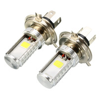 Wholesale super bright headlights motorcycle for sale - Group buy 2PCS Motorcycle H4 COB LED Front Headlight High Low Beam Light Motorbike Headlamp White Super Bright Lamp Bulb DC12 V